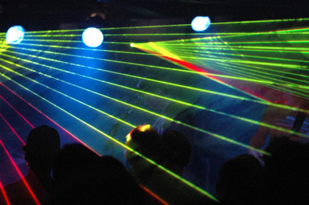 Lasershow im Gaskessel Bern