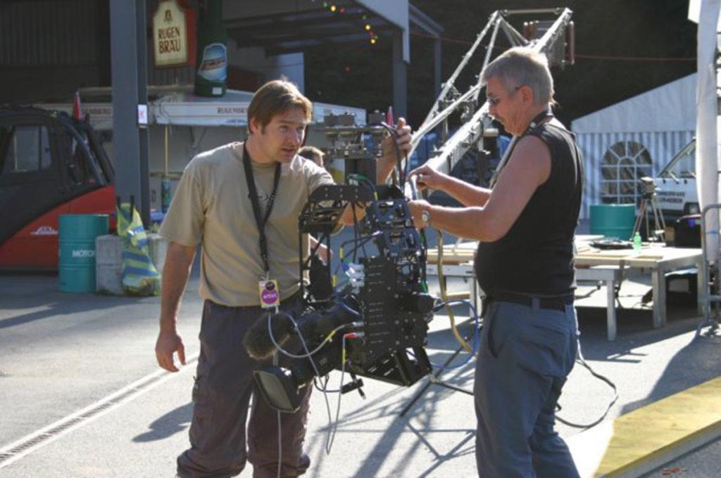 Kamerakran für die Videoproduktion «Cosmos live»
